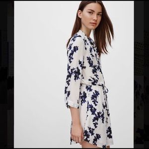 Aritzia Babaton Bennett Silk Print Dress